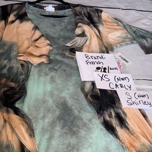 Unicorns - XS vintage tie dye Carly / S Shirley